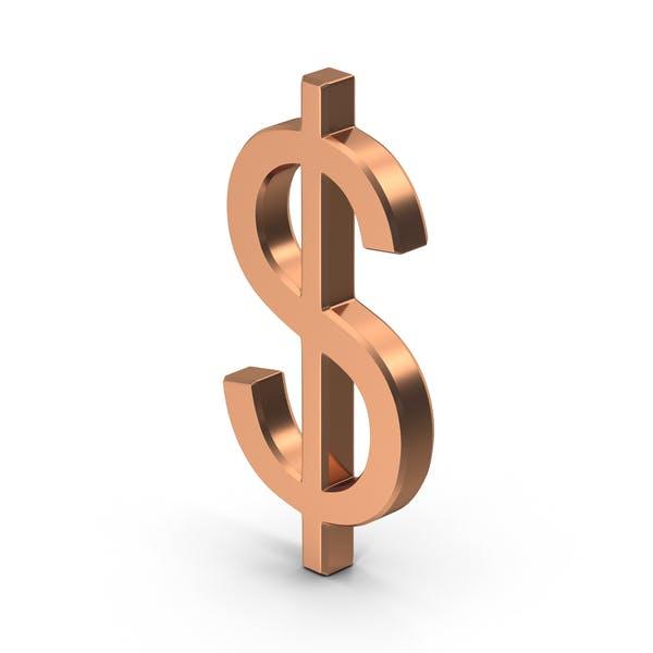 Copper Dollar Sign