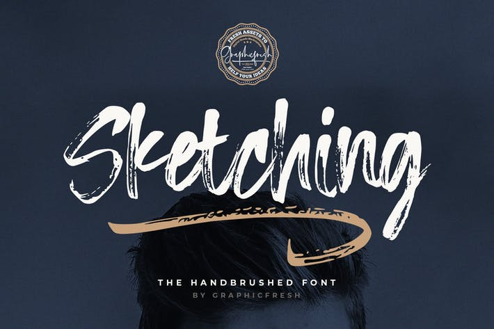Thumbnail for Sketching - The Handbrushed Typeface