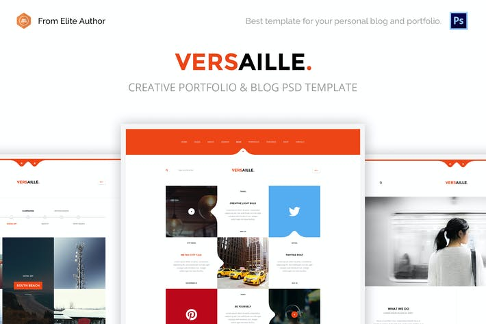Thumbnail for Versaille - Personal Blog PSD template