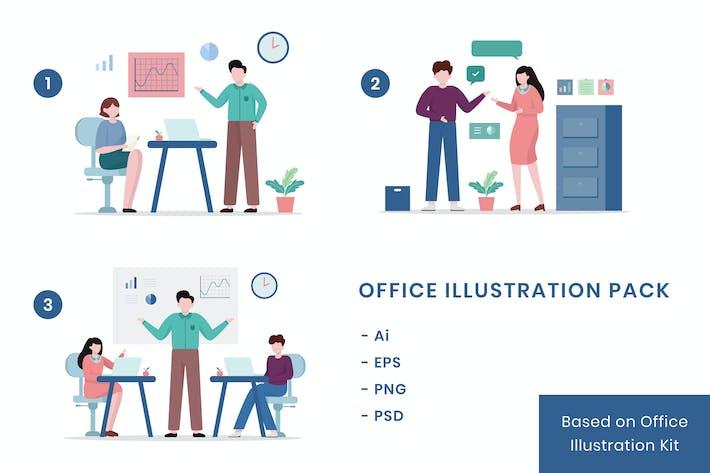 Thumbnail for Büro - Illustrationspaket