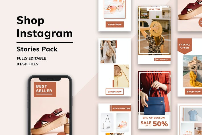 Thumbnail for Shop Instagram Stories Pack
