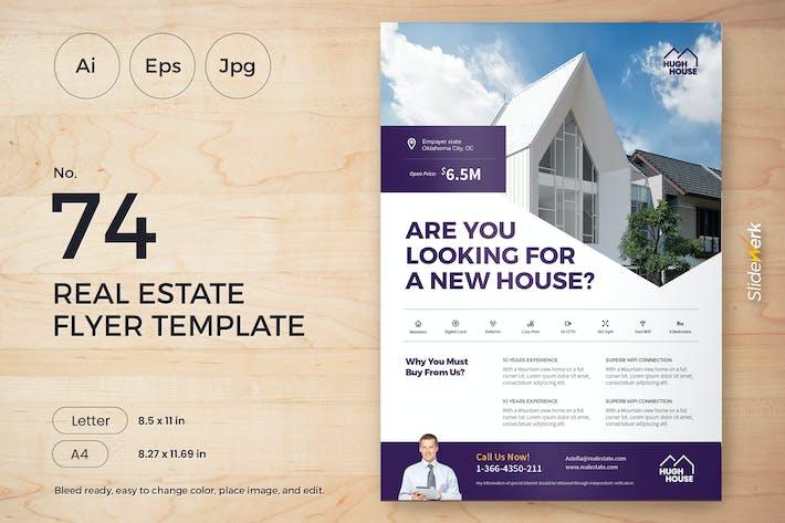 Thumbnail for Immobilier dépliant Modèle 74 - Slidewerk