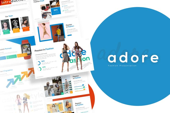 Thumbnail for Adore - Шаблон презентации моды