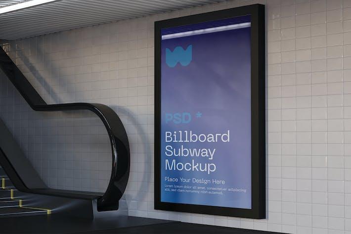 Werbung im Subway Station Mockup