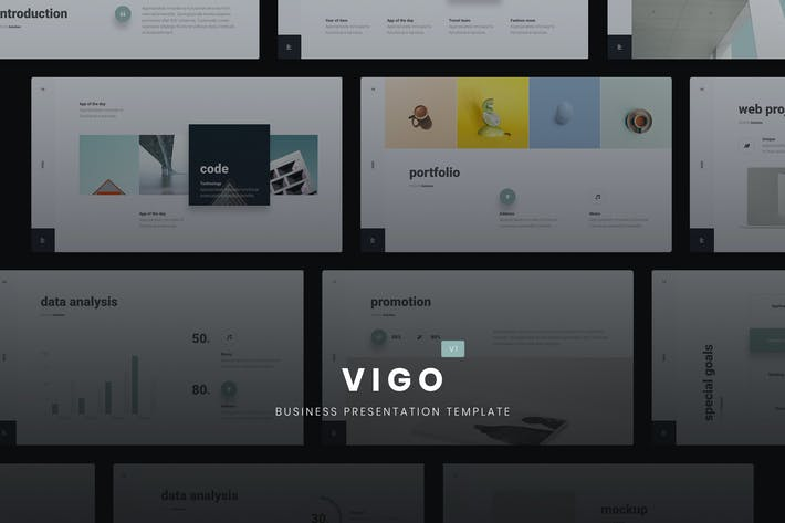 Thumbnail for VIGO - Minimal Presentation Template (KEY)