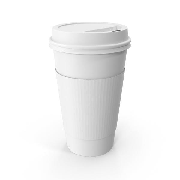 Монохромная кофейная чашка To-Go с крышкой