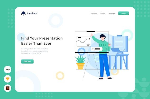 Presentation - Website Header - Illustration