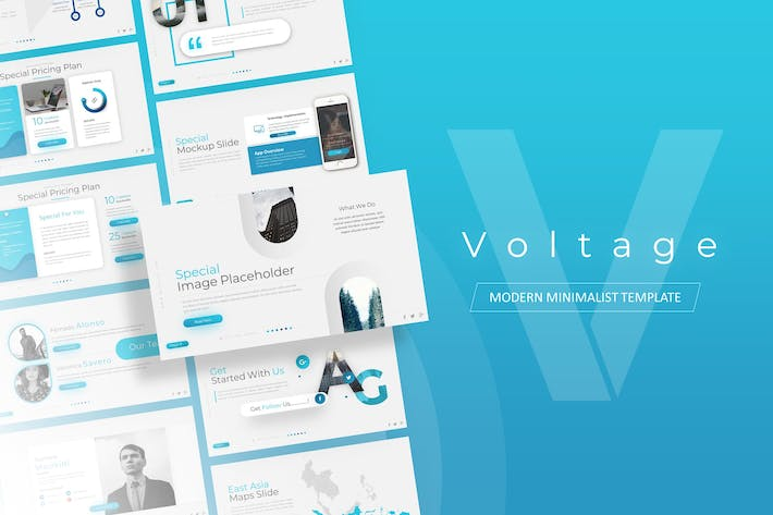Thumbnail for Voltage - Business Presentation Template