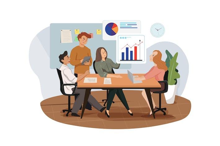 Thumbnail for Gruppe von Analysten, die an Graphen arbeiten
