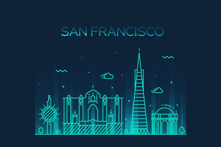 Thumbnail for San Francisco skyline, United States