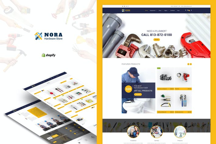 Thumbnail for Nora - Hardware Store Shopify theme