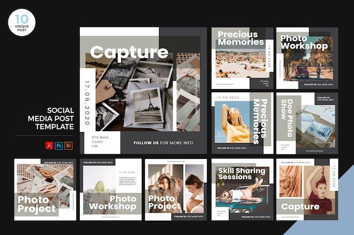 Thumbnail for Photography Workshop Social Media Kit PSD & AI
