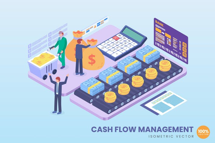 Isometric Cash Flow Management Concept