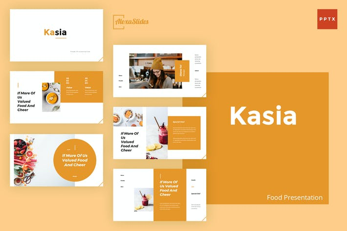 Thumbnail for Kasia - Food Powerpoint Presentation Template