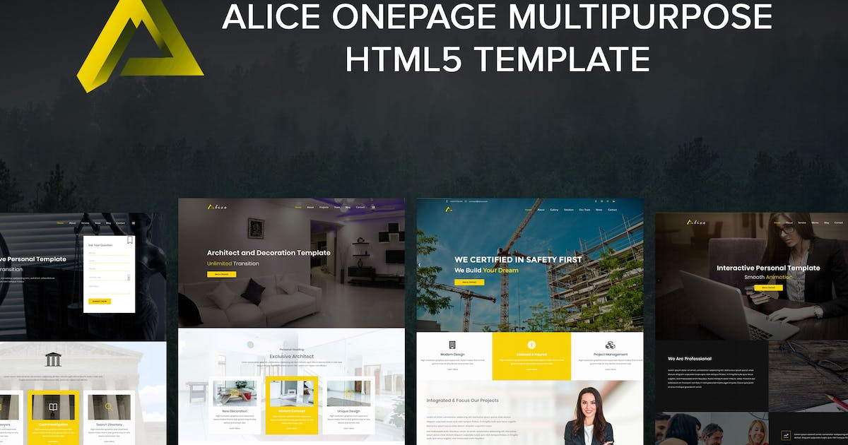 Download Alice Onepage Multipurpose HTML Template by on3-step