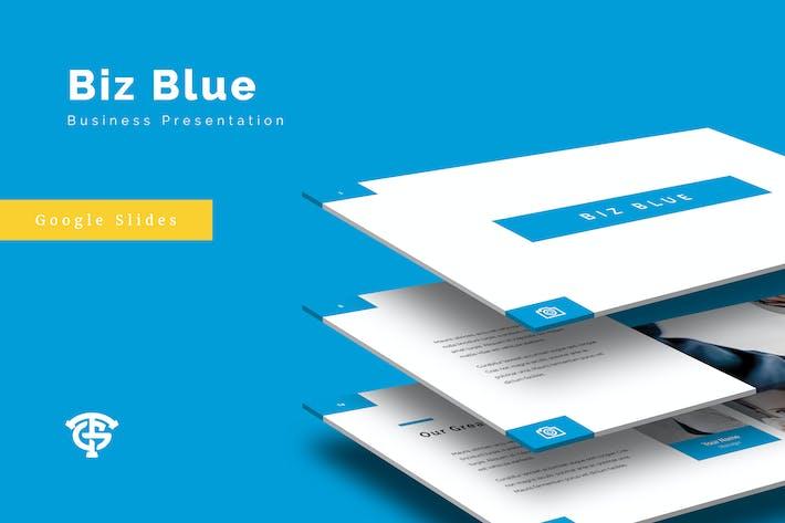 Cover Image For Biz Blue Business - Google Slides