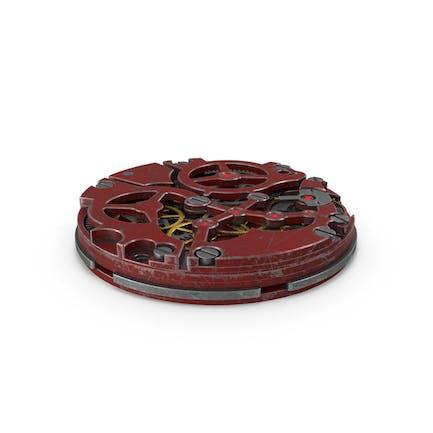 Mecanismo Reloj Rasguño Rojo