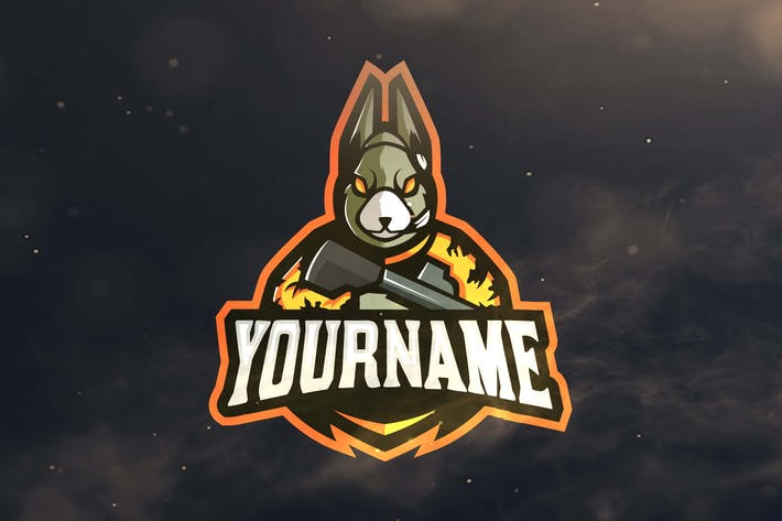 rabbit sport and esports logos by ovozdigital on envato elements