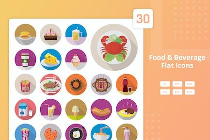 Essen und Trinken - Flat Icons
