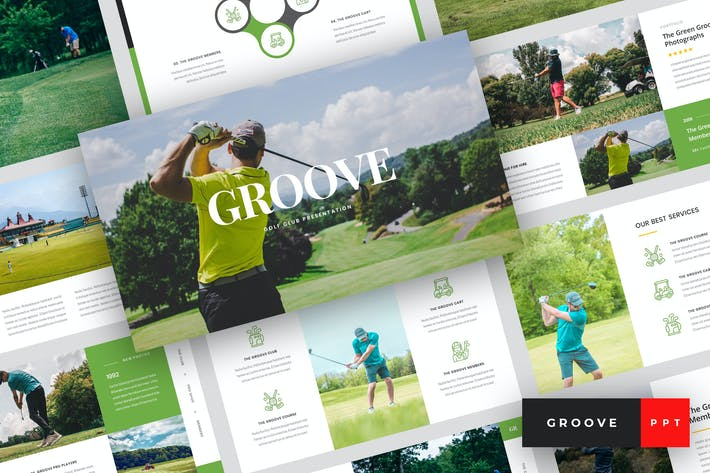 Thumbnail for Groove - Golf Club PowerPoint Template