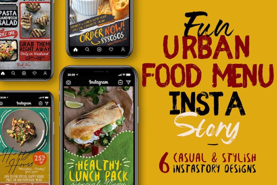 Fun Urban Food Menu Instagram Stories