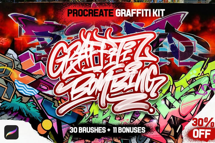 Thumbnail for PROCREATE GRAFFITI BOMBING for Procreate