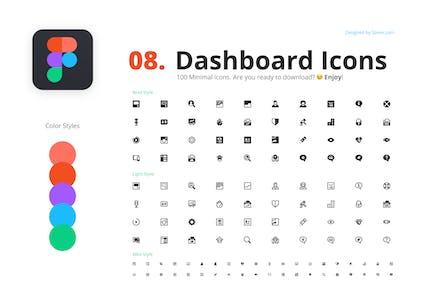 100 Dashboard Icons