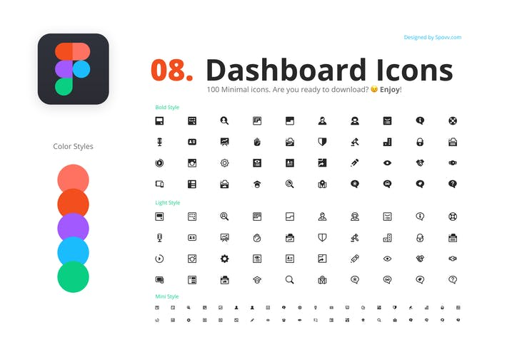 Thumbnail for 100 Dashboard Icons
