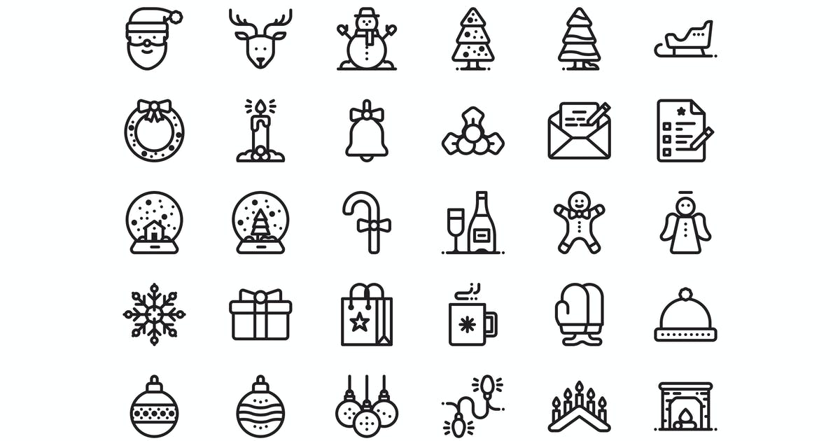 Download 30 Christmas and New year icons by mir_design