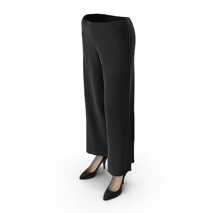 Женские Брюки Обувь Черный