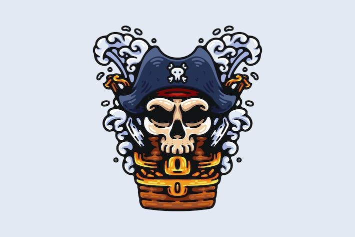Thumbnail for Pirate Captain Skull And His Treasure