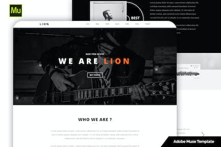 Lion - Music Adobe Muse template