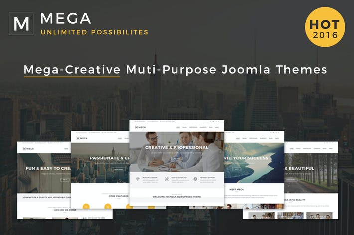 Thumbnail for Mega - Responsive Multi-Purpose Joomla Theme