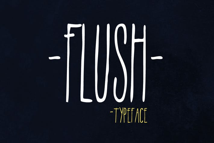 Thumbnail for Flush Font