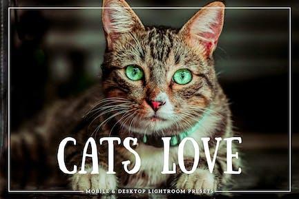 Кошки Любовь для мобильных и настольных Пресеты Lightroom