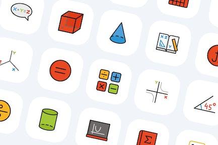 50 Math Symbols Icons