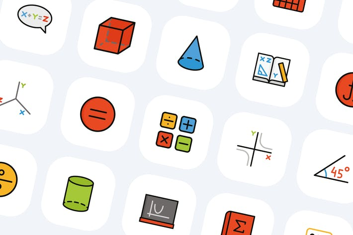 Thumbnail for 50 Mathe-Symbole-Icons