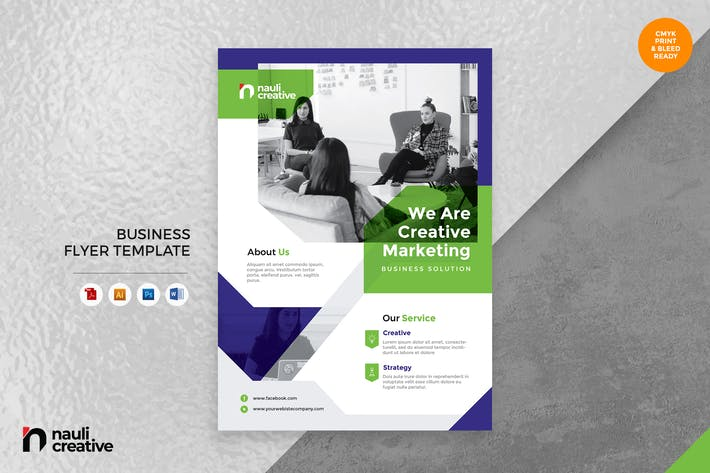 Thumbnail for Corporate Business Flyer AI, DOC, & PSD Vol.26