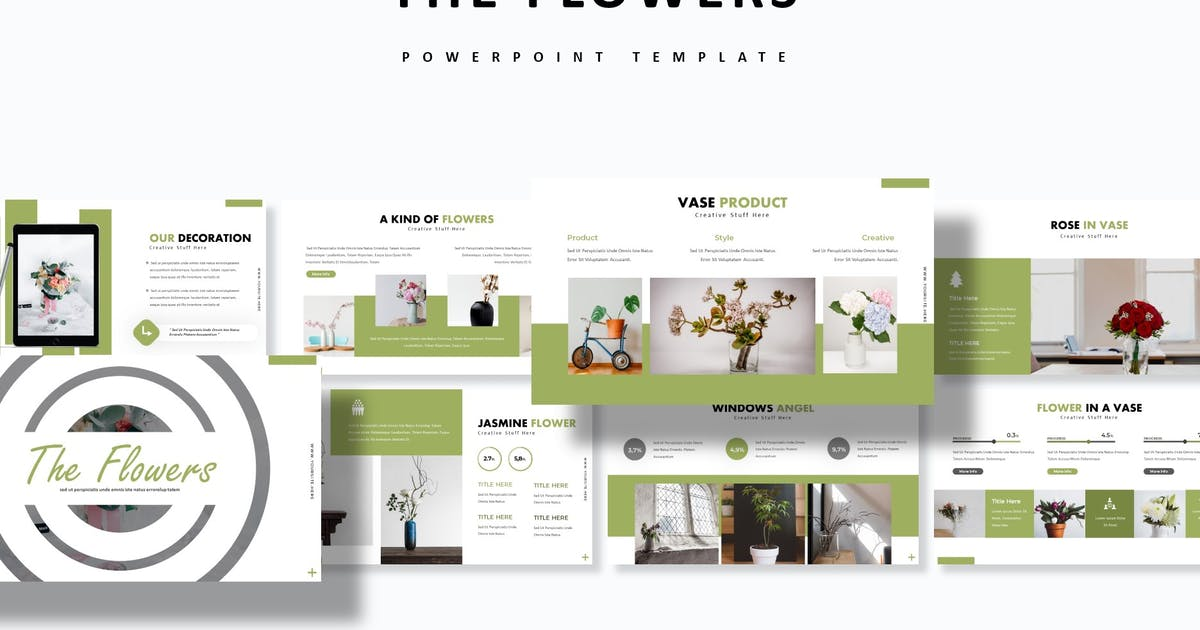 Download The Flowers - Powerpoint Template by aqrstudio