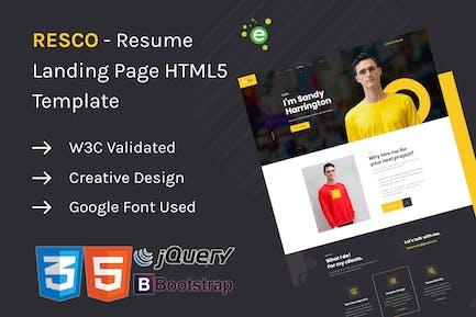 Resco - Resume HTML5 Template