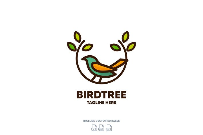 Thumbnail for Bird Tree Logo Design