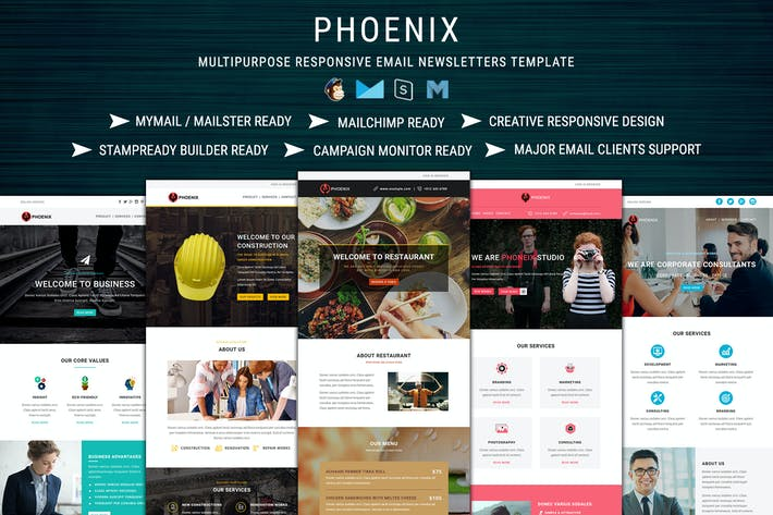 Thumbnail for PHOENIX - Multi-Concept Responsive Email Pack