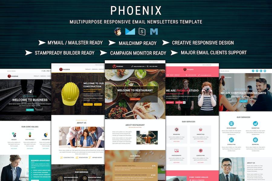 PHOENIX - Multi-Concept Responsive Email Pack
