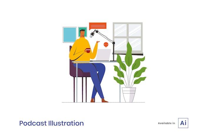 Thumbnail for Podcast Illustration
