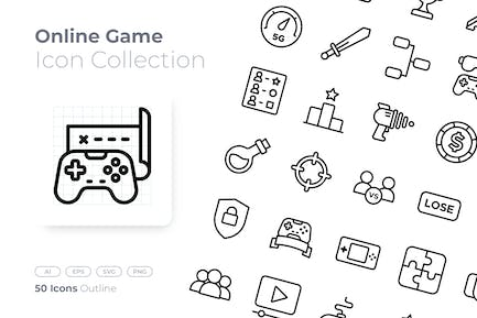 Online Game Outline Icon