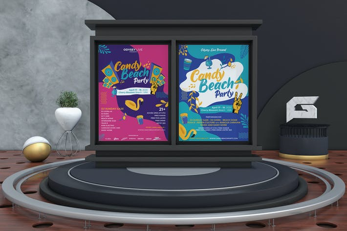 Thumbnail for Candy Beach Party Flyer Template