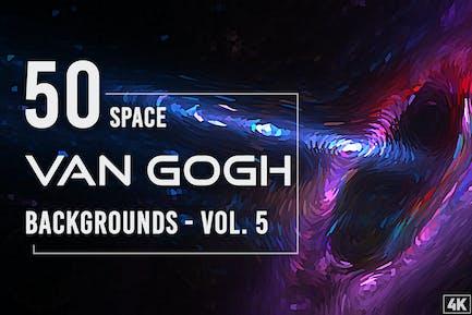 50 Van Gogh Space-Hintergründe - Band 5