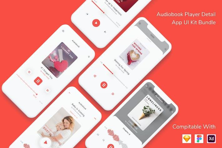 Audiobook Player Detail App UI Kit Bundle
