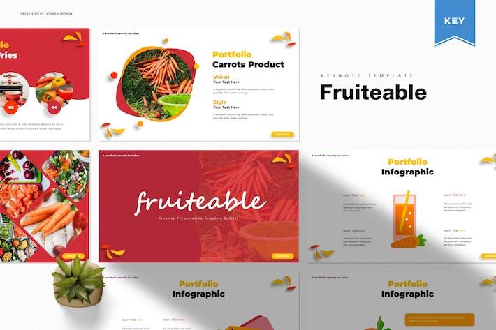 Fruiteable   Шаблон Keynote