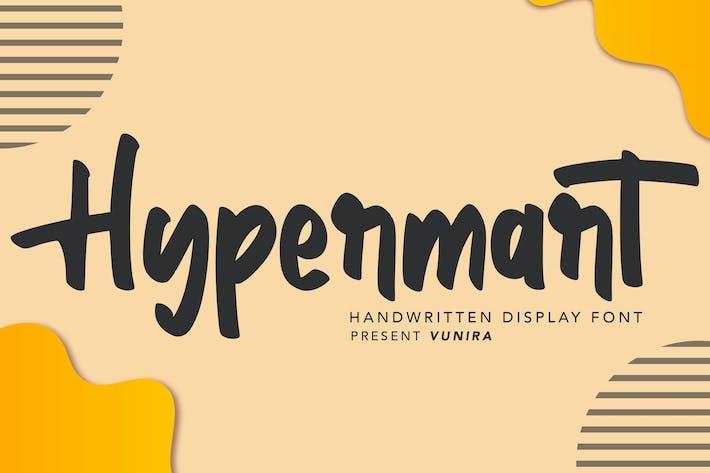 Thumbnail for Hypermart   Handwritten Display Font